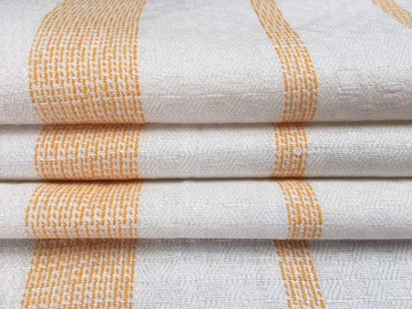 Leinen-Handtuch 089, gelbe Streifen, antik, Leinen-Geschirrtuch