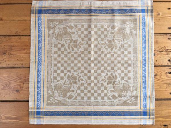 original Art deco Leinen-Geschirrtuch 223. Antik, Leinen-Handtuch, Tischläufer