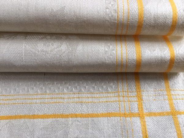 seltenes Art deco Leinen-Handtuch 226 gelb. Antik, Leinen-Geschirrtuch