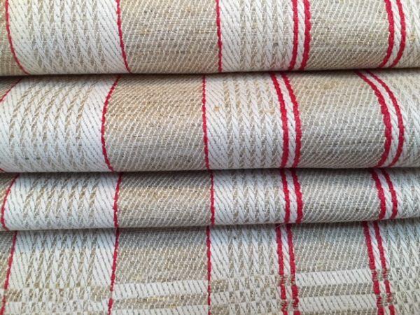 Leinen-Handtuch rot natur 240. Antik, Leinen-Geschirrtuch