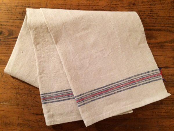 Leinen-Geschirrtuch 509. Antik, Leinen-Handtuch, handgewebt