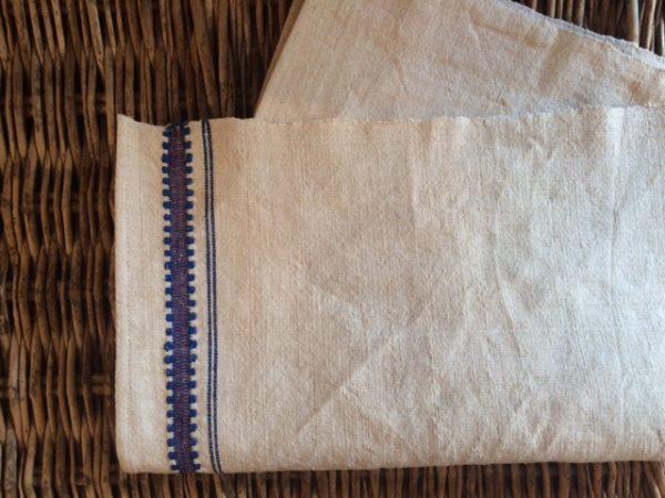 Leinen-Geschirrtuch 567. Antik, Leinen-Handtuch, handgewebt
