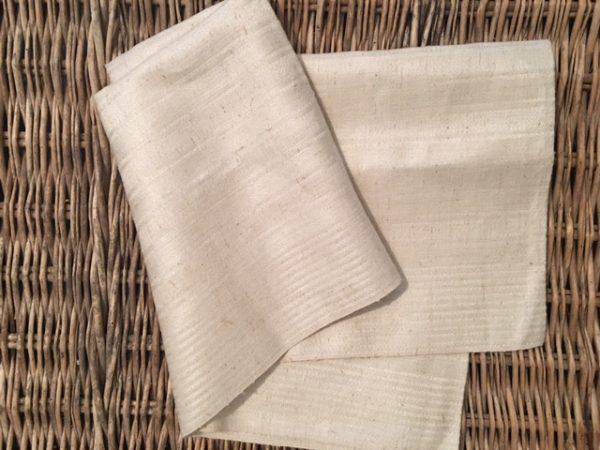 Leinen-Handtuch Streifen 830. Altes Leinen ungebleicht