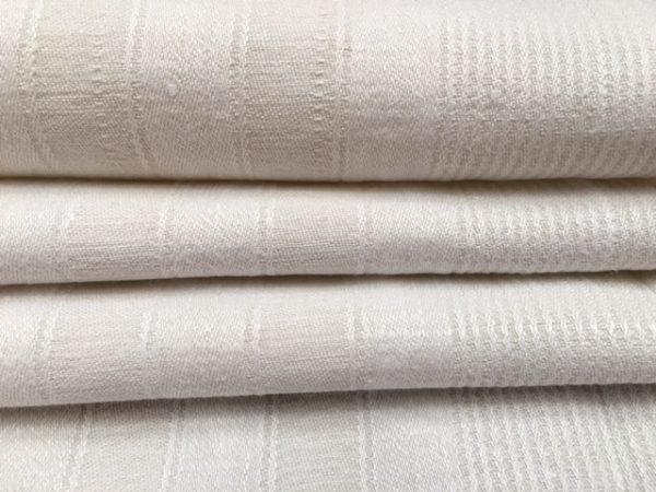 Leinen-Handtuch weiß Streifen 870. Leinen-Geschirrtuch, Tischläufer