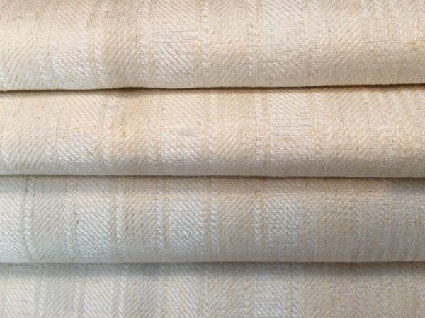 Leinen-Handtuch weiß Streifen 873. Leinen-Geschirrtuch, Tischläufer