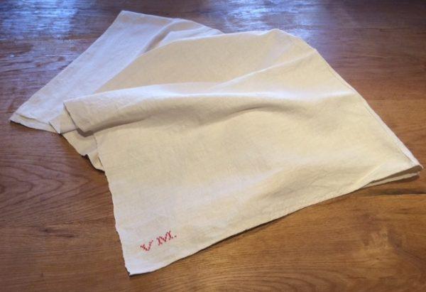 Leinen-Tischdecke 121, altes Leinen, handgewebt