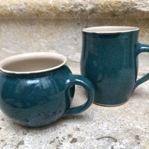 2 Becher dunkles blau-grün | K 2