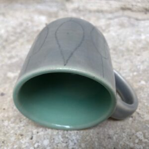 Espressotasse grau-grün | K 3