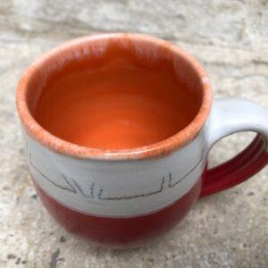 Becher rot-orange | K 17
