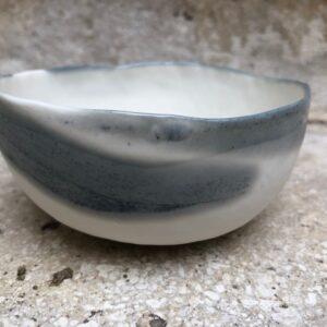 Porzellan-Schale hellgrau | P 3
